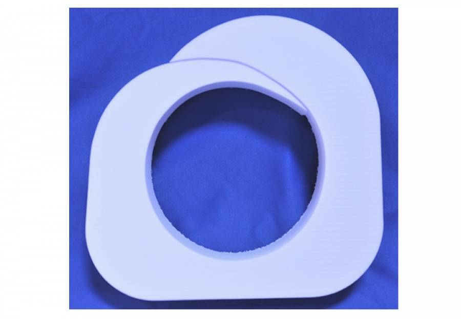 "MPR Standard Profile 6 1/2"" Economy Non-Grooved Single Use Insert White (10222F)"
